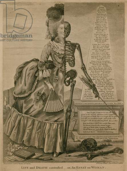 Life and death contrasted - or An essay on woman (engraving)
