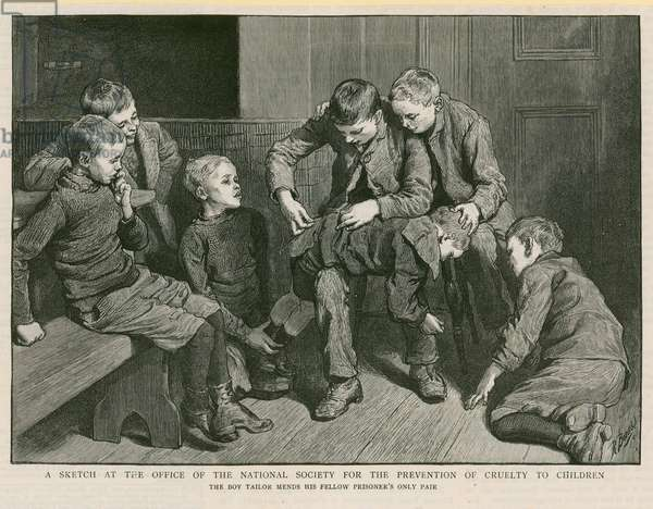 Sketch at the Office of the National Society for the Prevention of Cruelty to Children (engraving)