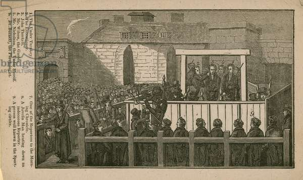 Who's who at the execution of John Thurtell (engraving)