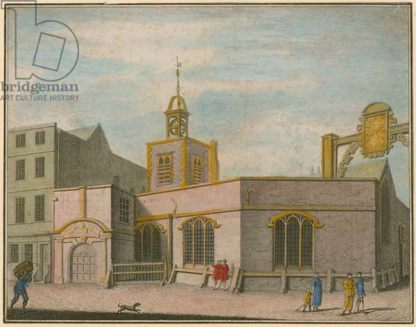 St Peter the Poor, London (coloured engraving)