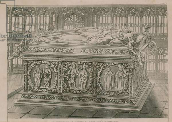 Tomb in Westminster Abbey (engraving)