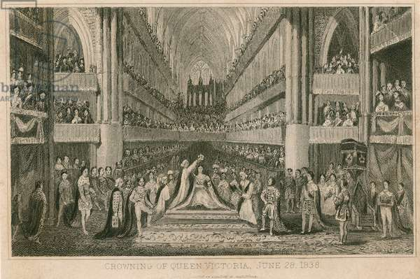 The Coronation of Queen Victoria in Westminster Abbey, 28 June 1838 (engraving)