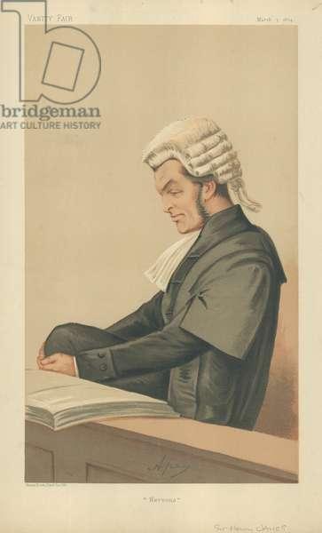 Sir Henry James (colour litho)