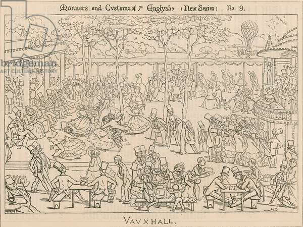 Manners and Customs of the Englishe; Vauxhall Gardens, London (engraving)