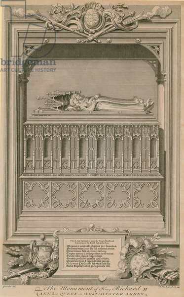 The monument of King Richard II and Ann his Queen (engraving)