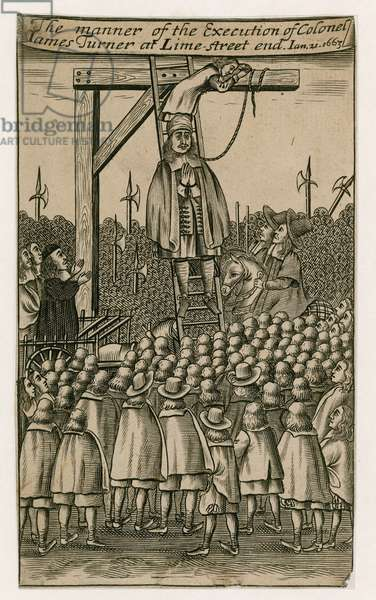Execution of James Turner in 1663 (engraving)