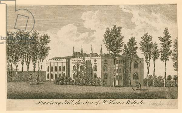 Strawberry Hill, Twickenham, London; the seat of Mr Horace Walpole (engraving)