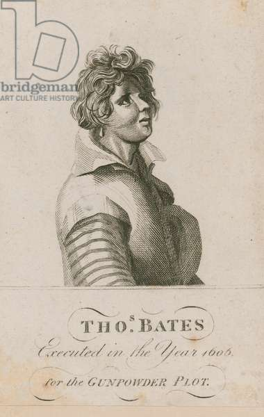 Thomas Bates, executed in the year 1606 for the Gunpowder Plot (engraving)