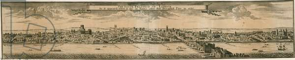 The South Prospect of London, after the Great Fire of 1666 (engraving)