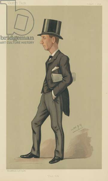 Mr Herbert Henry Asquith (colour litho)