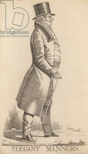 Charles Manners Sutton; 1st Viscount Canterbury; Elegant Manners (engraving)