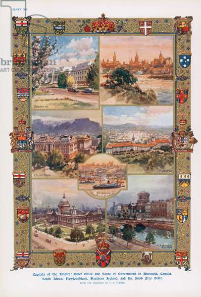Capital cities of nations of the British Empire (colour litho)