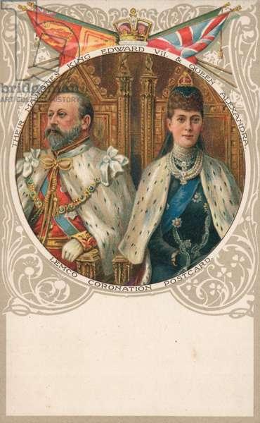 King Edward VII and Queen Alexandra (chromolitho)