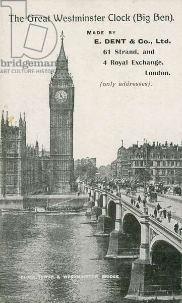 The Great Westminster Clock, Big Ben, Made by E Dent & Co Ltd (photo)