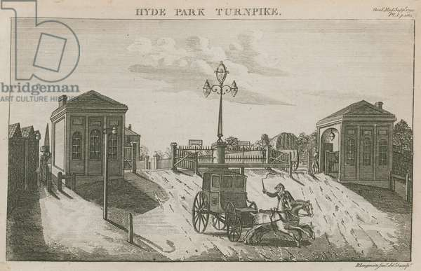 Hyde Park Turnpike, Hyde Park Corner, London (engraving)
