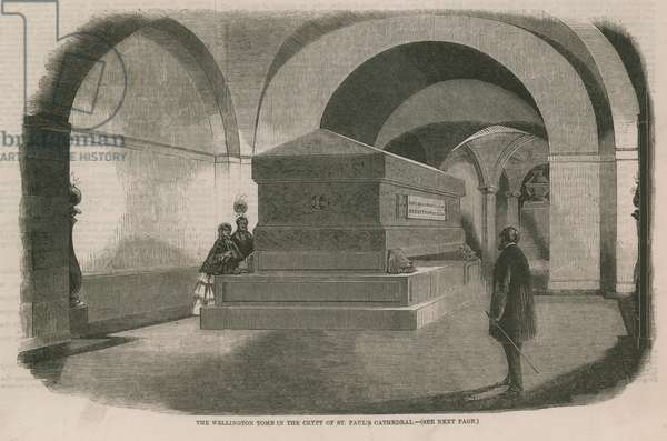 The Wellington Tomb in the crypt of St Paul's (engraving)