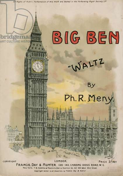 Big Ben Waltz by Ph R Meny (colour litho)