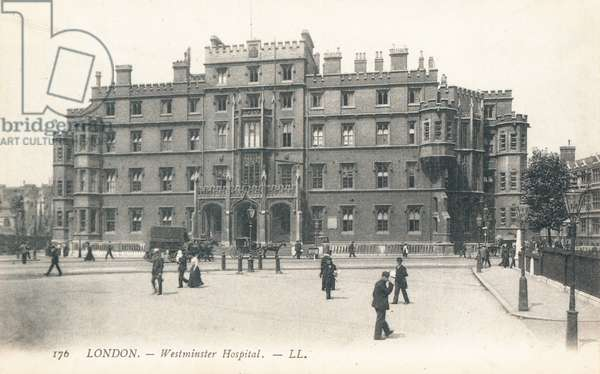 Westminster Hospital in Westminster (b/w photo)