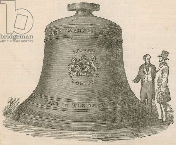 The Westminster Clock Bell (Big Ben) (engraving)