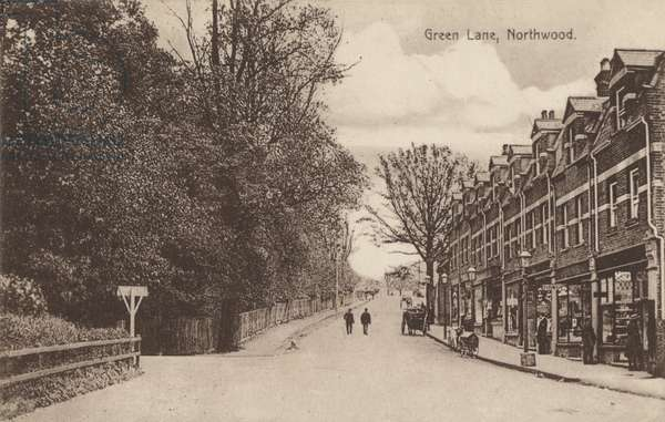 Green Lane, Northwood, near London (b/w photo)