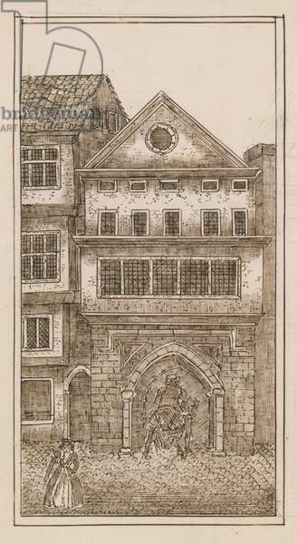 View of the north gate of St Paul's (engraving)