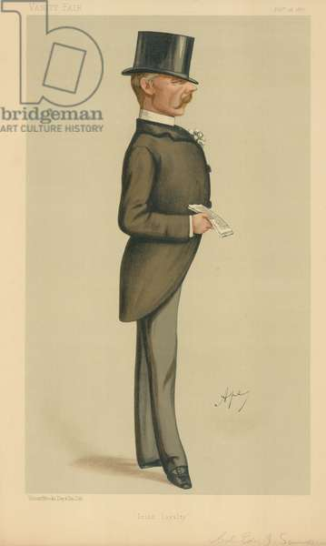 Colonel Edward J Saunderson, Irish Loyalty, 26 February 1887, Vanity Fair cartoon (colour litho)