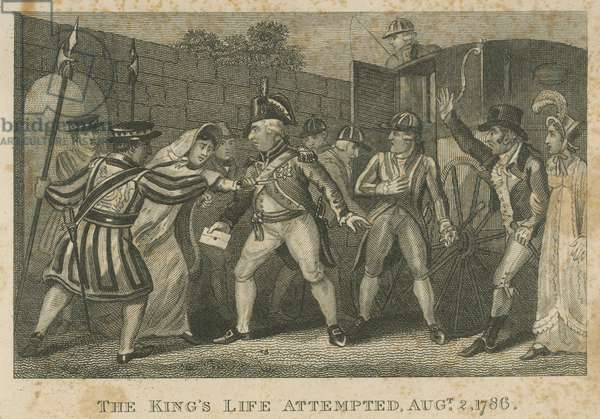 The King's life attempted, 2 August 1786 (engraving)
