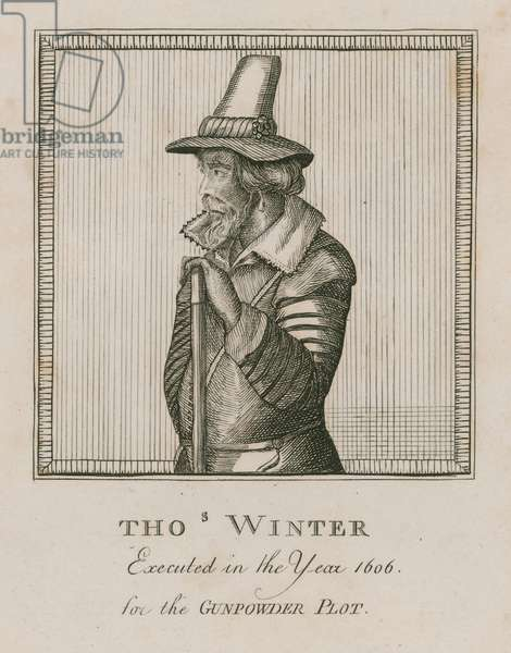 Thomas Winter, executed in the year 1606 for the Gunpowder Plot (engraving)