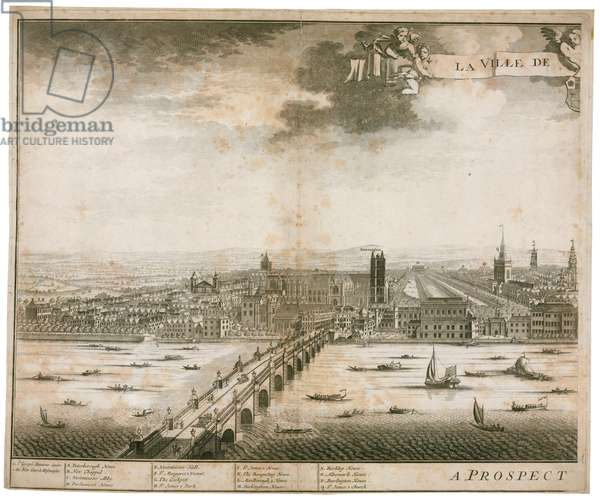 View of Westminster and Bridge (engraving)