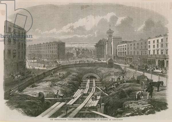 Metropolitan Railway Works at King's Cross (engraving)