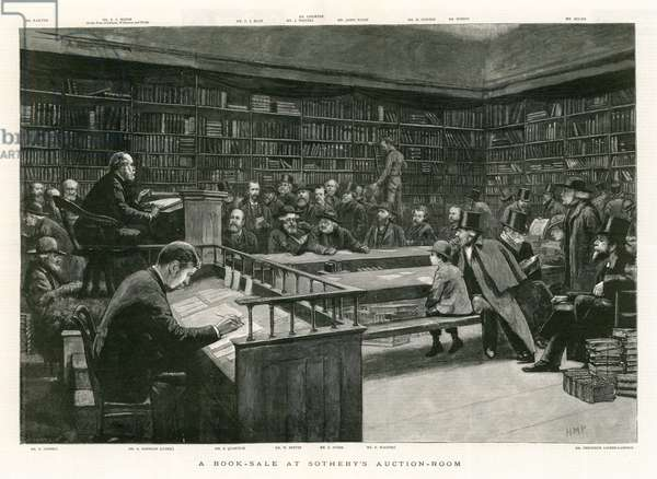 A Book Sale at Sotheby's Auction Room (engraving)