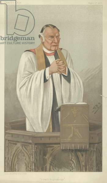 The Rev H Montagu Villiers (colour litho)