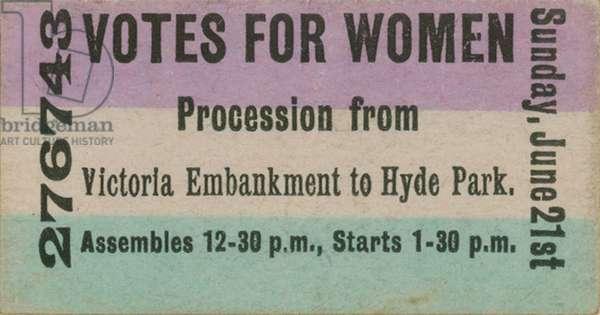 Votes for Women (engraving)