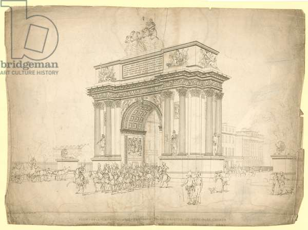 View of a Triumphal Arch proposed to be erected at Hyde Park Corner (engraving)