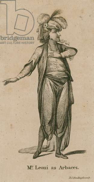 Mr Leoni as Arbaces, actor (engraving)