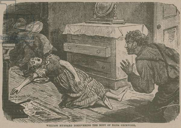 Jack the Ripper: William Hubbard discovering the body of Eliza Grimwood (engraving)