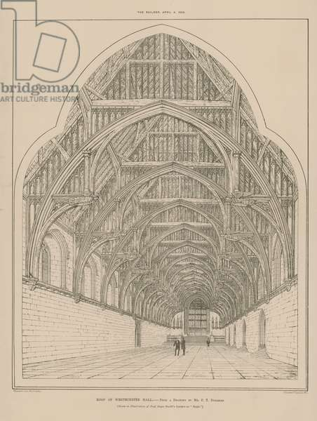 The roof of Westminster Hall (engraving)