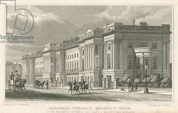 Cornwall Terrace, Regent's Park, London (engraving)