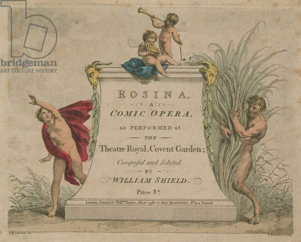 Rosina, a comic opera as performed at the Theatre Royal, Covent Garden (coloured engraving)