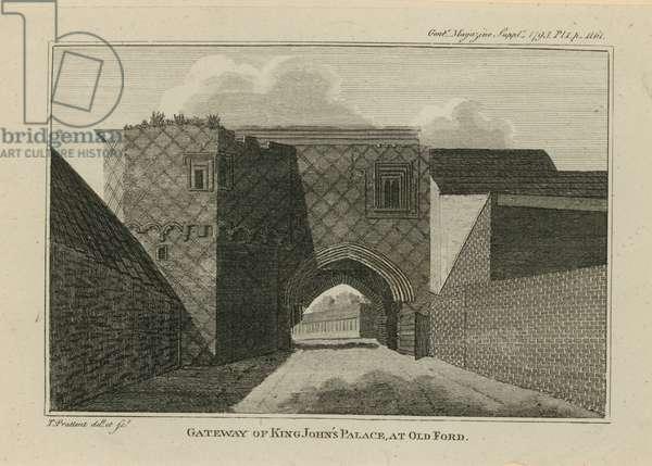 Gateway of King John's Palace (engraving)
