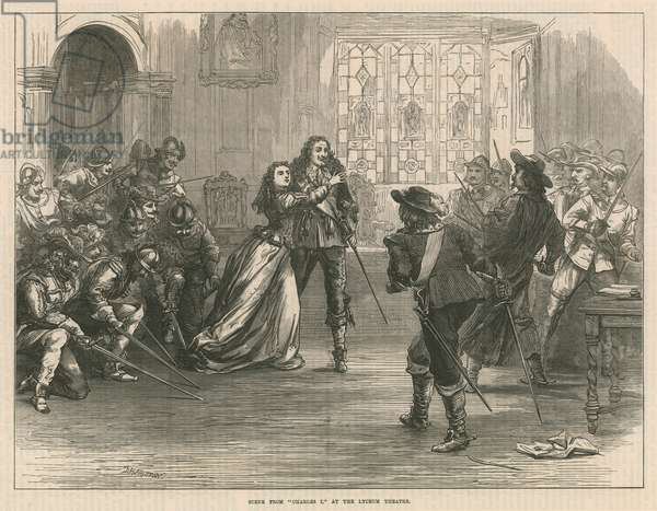 Scene from Charles I at the Lyceum Theatre, London (engraving)