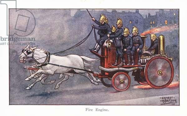 Fire Engine (colour litho)