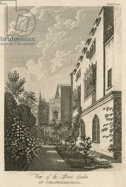 View of the Prior's Garden at Strawberry Hill, London (engraving)