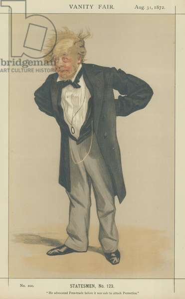 The Right Honourable Charles Pelham Villiers (colour litho)