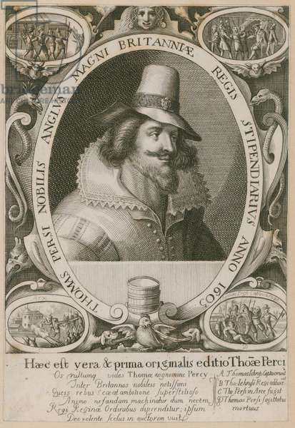 Thomas Percy, one of the conspirators in the Gunpowder Plot (engraving)