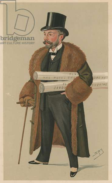 Richard D'Oyly Carte (colour litho)
