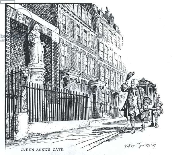 Queen Anne's Gate, London (ink on paper)