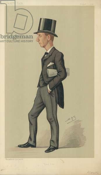 Mr Right Hon Herbert Henry Asquith (colour litho)