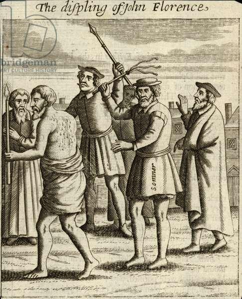The disciplining of John Florence (engraving)