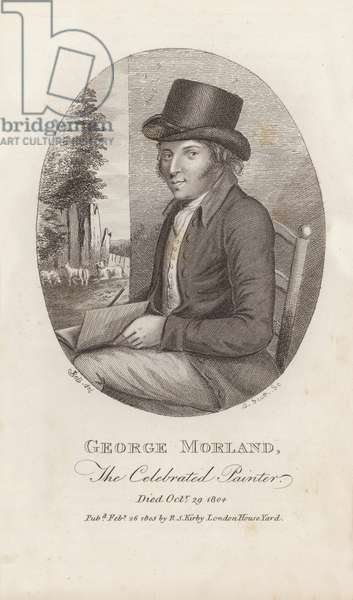 George Morland, the Celebrated Painter, died 29 October 1804 (engraving)
